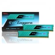 Memorie GeIL EVO Leggera 8GB (2x4GB) DDR3 2400MHz PC3-19200 CL11 1.65V XMP Dual Channel Kit, GEL38GB2400C11BDC