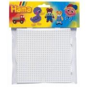 Hama - 2 Plaques pour Perles à Repasser - 1 grande ronde et 1 grande carrée