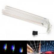 Festival Garden Decoration 30-LED White Light Meteor Shower Rain Style Tube Lights (DC 12V / 8PCS)