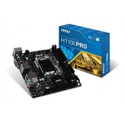 Msi H110I Pro Mini Scheda Madre, Nero
