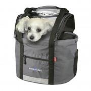 KlickFix Doggy Lenkerkorb grau Gepäckträgertaschen