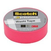 Scotch Expressions Washi Tape, 59 X 393 Inches, Neon Pink (Mmmc314 Pnk)