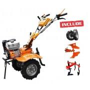Motocultor Ruris 740 K 7,5 CP + roti cauciuc + cultivator + plug reversibil
