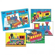 Train Ride Theme Peel & Stick by Number Sticker Craft Activity Pictures Come Alive as Kids Create Beautiful Mosaic Scenes by Sticking Colorful Foam Squares on The Numbered Scene Boards Ages 6+