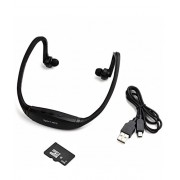 PH Artistic Wireless Sports Neckband MP3 Music Player with MICRO SD Card Support and Free 4GB Memory Card - Black