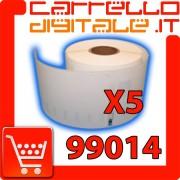 Etichette Compatibili con Dymo 99014 Bixolon Seiko 5 Rotoli