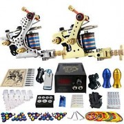 LightInTheBox débutant de tatouage Solong kit 2 de machine à tatouer rotative avec don gratuit de 20 encres de ta