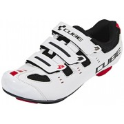 Cube Road CMPT Schuhe Unisex white'n'red 2017 Rennvelo Klickschuhe