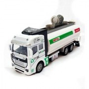 Battery Operated Die-Cast Pull Back Metal Oil Truck For Kids