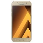 "Telefon Mobil Samsung Galaxy A3 (2017), Procesor Octa-Core 1.6GHz, Super AMOLED capacitive touchscreen 4.7"", 2GB RAM, 16GB Flash, 13MP, 4G, Wi-Fi, Android (Auriu) + Cartela SIM Orange PrePay, 6 euro credit, 4 GB internet 4G, 2,000 minute nationale si inte"