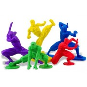 Ninja Erasers - Set of 5 Colorful Ninjas