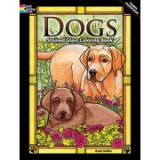 Dogs Stained Glass Coloring Book by Ruth Soffer