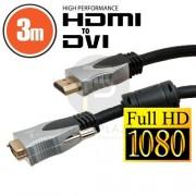 Professzionális DVI-D / HDMI kábel 3 m 20385