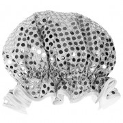 Shower Cap - Sparkly Silver