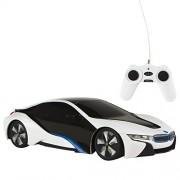 Rastar - BMW i8, coche teledirigido, escala 1:24, color blanco (ColorBaby 75899)