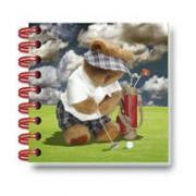 Carnet 3D Teddy la golf.