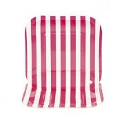 Hot Pink Striped Square Dessert Plates - Easter & Party Tableware