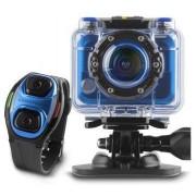 Camera Video de Actiune Energy Pro, Full HD, 5 MP, WI-FI, Bratara cu functii de telecomanda, Rezistenta la apa (Albastru)
