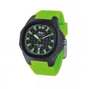 iTime Unisex Quartz Watch Black Dial Green Strap PH4300-PHD5