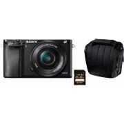 SONY Alpha ILCE-6000L systeemcamera, 16-50 mm zoom, incl. tas, 32 GB SD-kaart