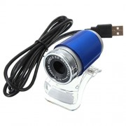 Imported USB2.0 1.3MP HD Webcam Web Cam Camera 360 Degree for Computer Laptop PC Blue