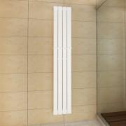 vidaXL Biely vykurovací radiátor 311 x 1800 mm s vešiakom na uteráky