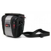 Sacoche pour appareil photo Nikon CoolPix L31, S6900, S2900, E-PM2 16MP, S3700, S30, S6200, TG-3 - en gris / noir, boucle de ceinture et bandoulière - DURAGADGET