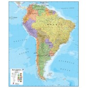 Wandkaart Zuid Amerika - South America political, 100 x 120 cm | Maps International