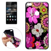 Huawei P8 Lite (2017) Colourful Flower Pattern Soft TPU Protective Case