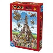 D-Giocattoli Cartoon Collection Torre Eiffel Puzzle (1000 Pezzi)