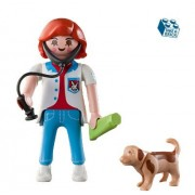Playmobil - Figura Playmobil Girl Vet With Dog