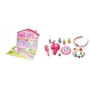 2 Hello Kitty Products Together - Kitty Playhouse House & Beauty Salon