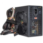 Logisys 550 Watt 20+4-Pin ATX PSU Power Supply With SATA PCI Express & Large 120mm Ball Bearing Cooling Fan For Quiet Performance For Intel / AMD Desktop PC Computer (Black) - Retail Packaged