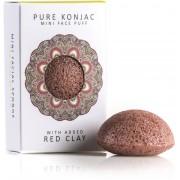 The Konjac Sponge Company Pure Konjac Mini Face Puff Gift Set - Red Clay