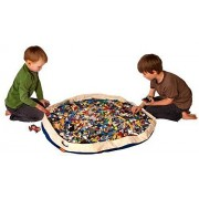 SWOOP? Bag Original Toy Storage Bag + Play mat, Blue - Ideal for organizing and cleaning up Lego pieces! by Swoop Bags