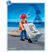 Playmobil Dock with Worker Hand Cart