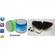 YSB Music Mini Bluetooth Speaker(S10 Speaker) And Headset (JBL_ Headset) for SAMSUNG GALAXY J 1 ACE