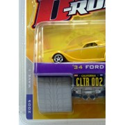 2005 Jada Toys D-Rods 1:64 Die-Cast Metal Body & Chassis 34 Ford CLTR 002 (12039)