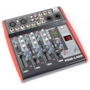 Power Dynamics PDM-L405 4-Kanal Mischpult mit USB/MP3