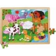 Puzzle Bino Farm Animals 48 Pieces