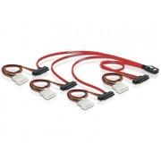 Delock Cable mini SAS 36pin to 4x SAS 29pin (SFF 8087 > 4x SFF 8482 + Power) 50cm 83059