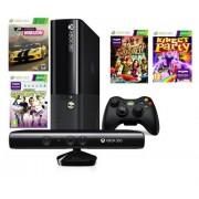 Consola Xbox 360 500 GB + Kinect Sensor + 4 jocuri (Kinect Adventures, Kinect Sports, Forza Horizon, Kinect Party)