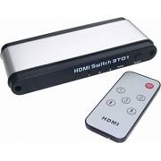 e+p HDMI 31 - Switch de vídeo Negro, Plata