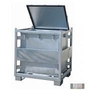 HUL-1258 800 literes horganyzott veszélyes hulladéktároló (KS 800)