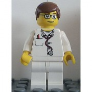 LEGO City Hospital Minifigure - Lab Doctor with Glasses