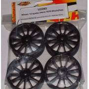 Schumacher U2393 Black spoked 24mm wheels (4)