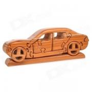 Creativa Montado arte decorativo Puzzle Sandalo Vintage Toy Car w / Base - Madera
