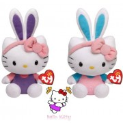 Ty Beanie Babies Hello Kitty -Turquoise and Purple Ears set of 2 Plush Easter Toys by Ty