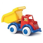 Viking Medium Primary Color Dump Truck - 8 Vehicle with Removable Figure - Really Dumps! - Dishwasher Safe - Indoor & Outdoor Use - Ages 1 and Up