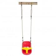 Swing King Assento baloiço p/ bebé vermelho/amarelo 252050